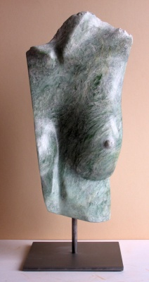 SCULPTURE EN STEATITE - DECOLLETE - ALAIN GUILLOTIN