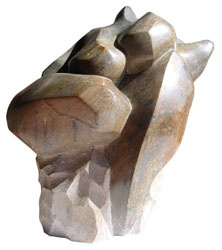 SCULPTURE EN STEATITE - ALAIN GUILLOTIN